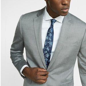 EXPRESS Slim Wool Blend Oxford Suit Jacket 42R